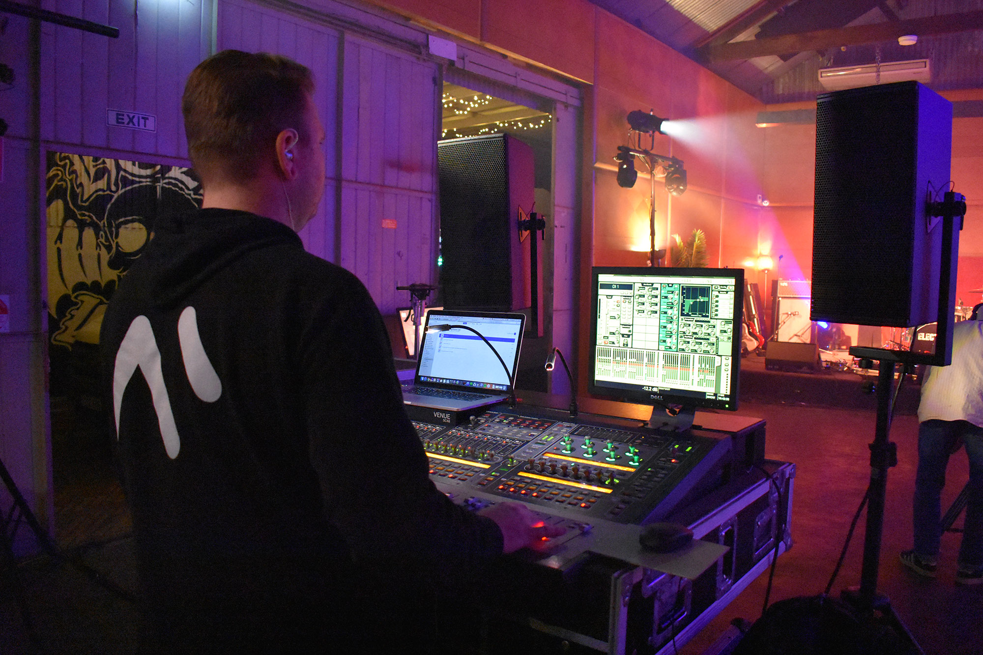 Sound engineering provided by Showscreens for our launch