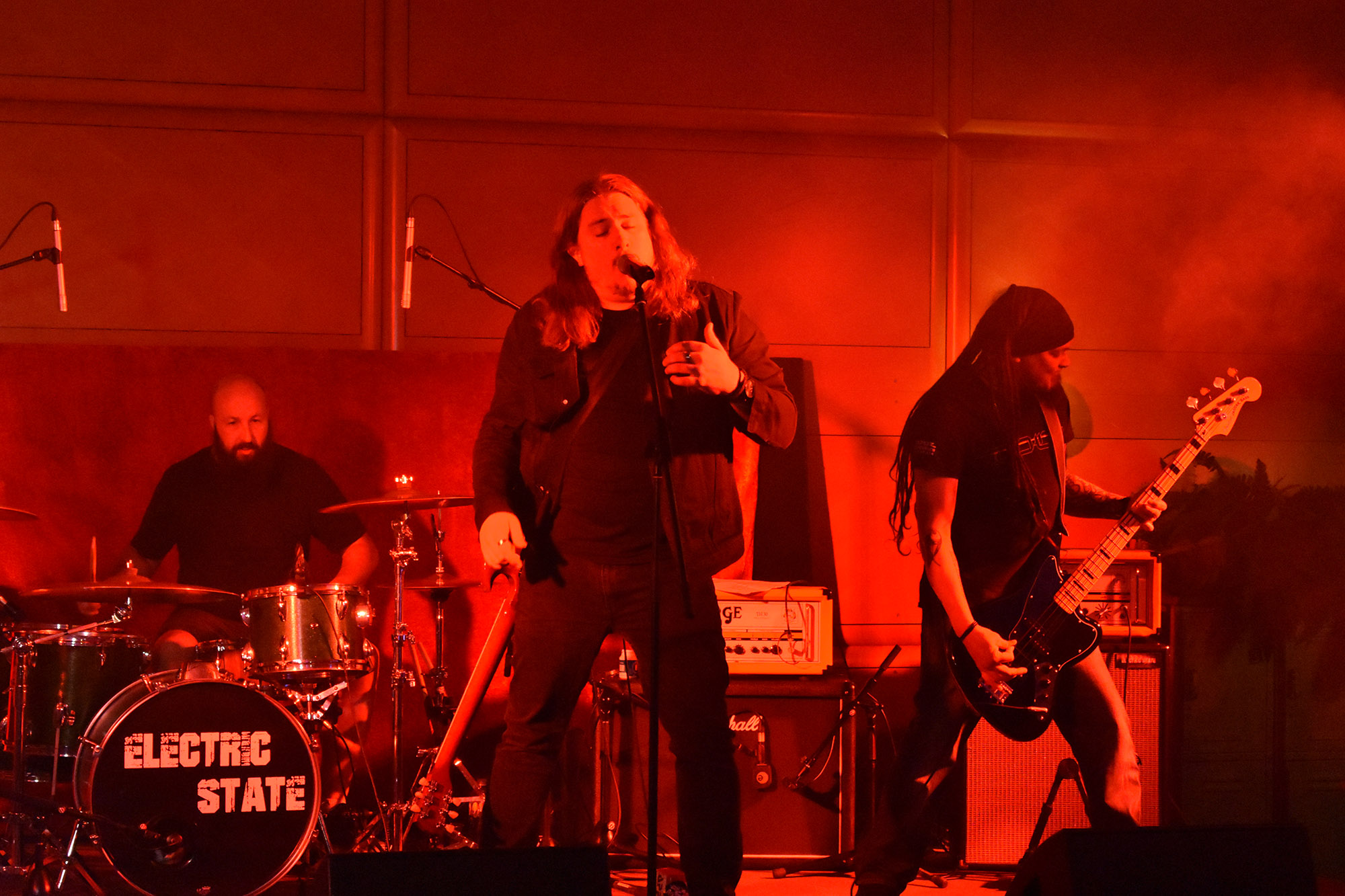 Hard rock band Electric State performing at our launch